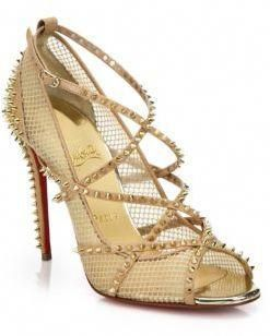 fcf79babdb7 Christian Louboutin Alarc Spiked Strappy Mesh Sandals | Christian ...