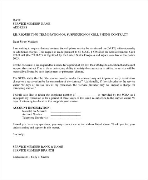 sample contract termination letter examples word pdf template free - job promotion announcement