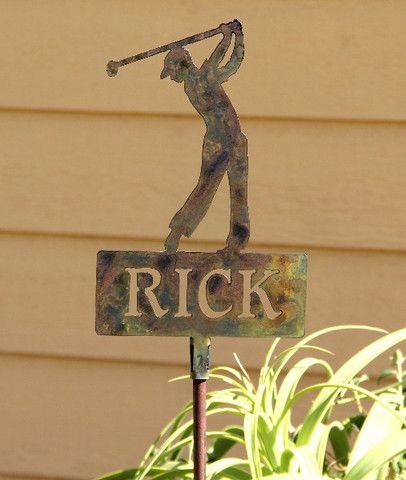 Outdoor Golf Decor Lawn Ornament, Golf Outdoor Decor