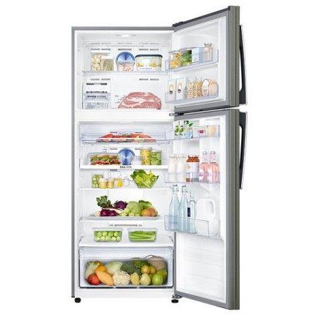 Refrigerateur Samsung Avec Congelateur En Haut Twin Cooling Plus 440l Silver Samsung Double Door Fridge Refrigerator Fridge Freezers