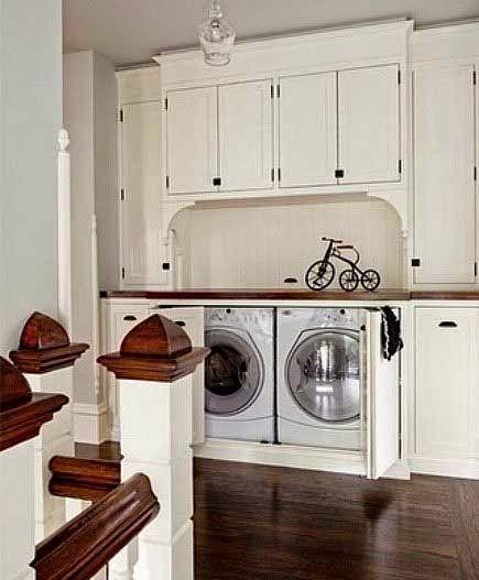 Ideas To Hide A Laundry Room 07 Jpg 435 527 Pixels Hidden Laundry Rooms Remodel Bedroom Small Bedroom Remodel