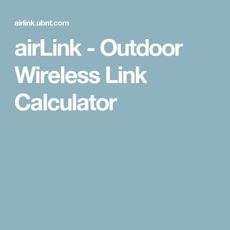 airLink - Outdoor Wireless Link Calculator | NODOS