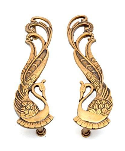 Antiqued Brass Snake Door Handles//Cabinet Pulls A Pair