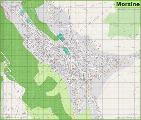 Large detailed map of Morzine Maps Pinterest France