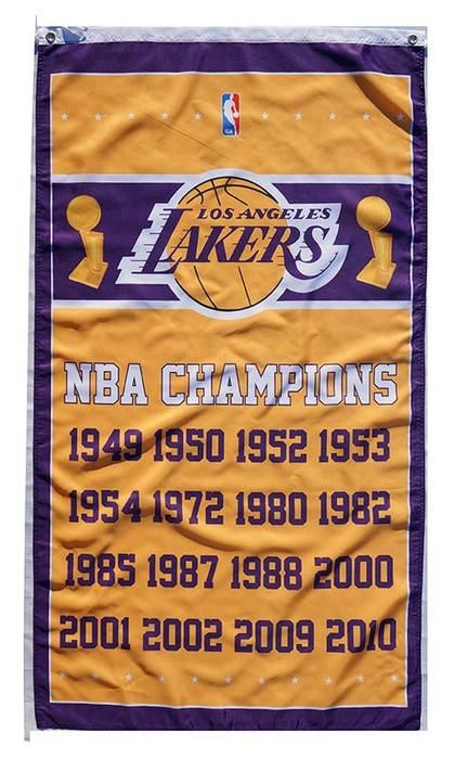L A Lakers Flag 3x5 Nba Lakers Banner 100 Polyester Lakers