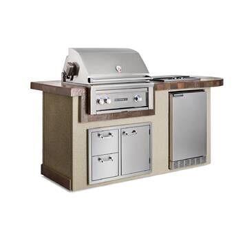 Cal Flame 84 3 Piece 4 Burner Liquid Propane Bbq Island Wayfair In 2020 Outdoor Kitchen Outdoor Kitchen Design Outdoor Kitchen Appliances