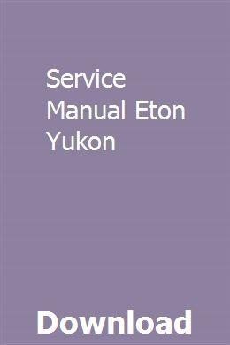 Eton200. 006 eton beamer scooter service manual: publisher: amazon.