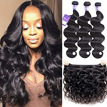 Amazon Com Semmely 8a Brazilian Virgin Hair Body Wave 3 Bundles 10 12 14 Inch 100 Unprocessed Human Hair In 2020 Body Wave Hair Malaysian Hair Body Wave Hair Waves
