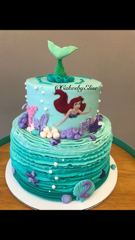 23+ Inspired Picture of Ariel Birthday Cakes . Ariel Birthday Cakes Little Mermaid Cake Little Mermaid Swimming Cake Future Ba  #BirthdayCakeToppers