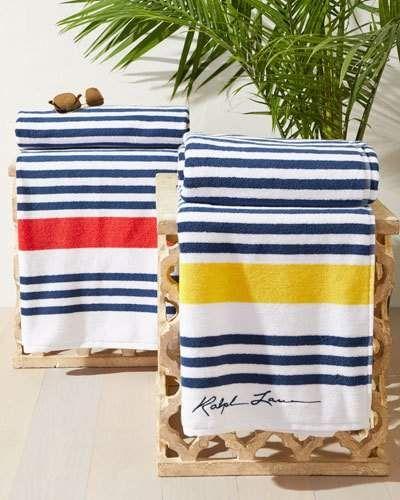 Ralph Lauren Home Healy Stripe Beach Towel Shopping Deals