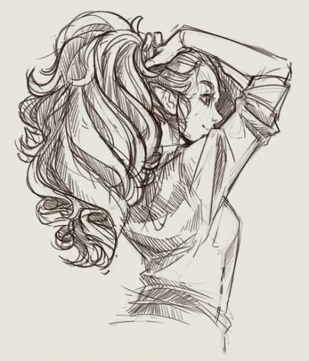 22 Best Ideas Drawing Reference Hair Braids In 2020 How To Draw Braids Drawing Hair Braid Ponytail Drawing