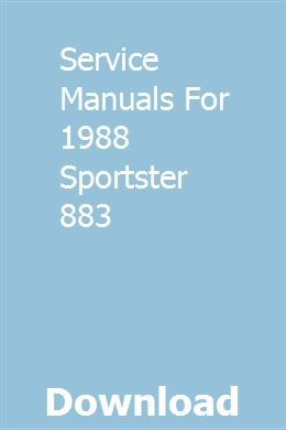 Service Manuals For 1988 Sportster 883 Sportster 883 Sportster Ford Tractors For Sale