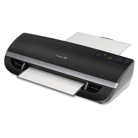Swingline Fusion 5000l 12 Laminator Item Swi1703077 Four Roller Laminating With 1 Minute Warm Up Green Light Audibl Laminators 10 Things Auto Reverse