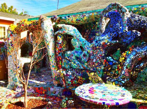 Mosaic Tile House Venice California Los Angeles California By