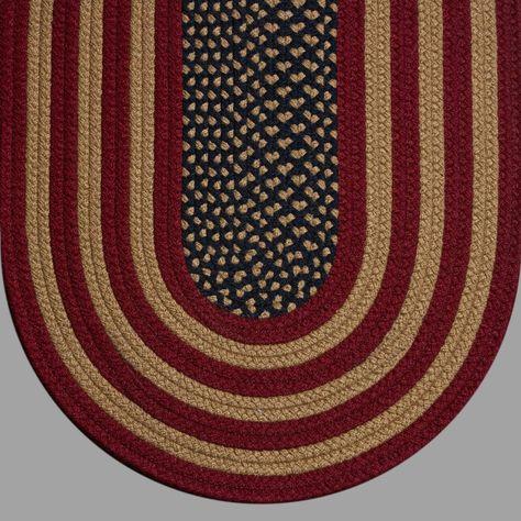 Braided Rug Colonial Rustic American