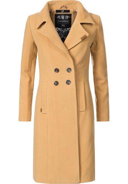 Wintermantel »Wooly« edler Damen Trenchcoat in Wollmantel