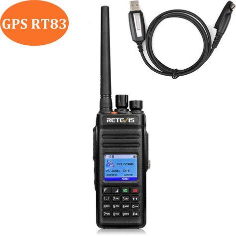 Retevis RT83 GPS DMR 10W HAM 2way Radio UHF 1024CH IP67 DMR Digital Dual Time US