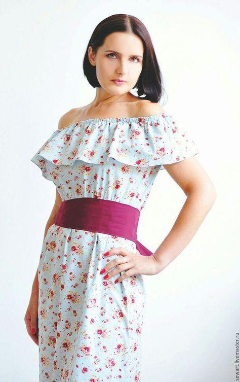 716faef197bb Cotton maxi dress   Платья ручной работы. Ярмарка Мастеров - ручная работа. Купить  Платье из хлопка в пол на лето. Handmade. Голубой, платье летнее