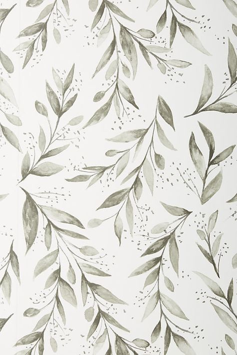 Magnolia Home Olive Branch Wallpaper by in Black, Wall Decor at Anthropologie wallpaper diy engine design top 10 wallpapers how to wall decor anime music im Cute Wallpaper Backgrounds, Home Wallpaper, Pretty Wallpapers, Vintage Wallpapers, Iphone Wallpapers, Wallpaper Quotes, Trendy Wallpaper, Wallpaper Wallpapers, Screen Wallpaper
