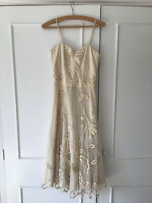 Alice Temperley cream embroidered dress UK 8 potentially bridal/wedding | eBay