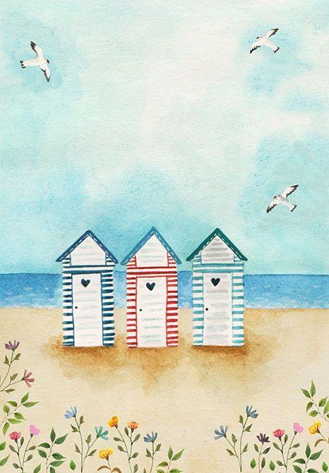 Sonia Cavallini Illustration Drawing Watercolor Aquarelle Bretagne
