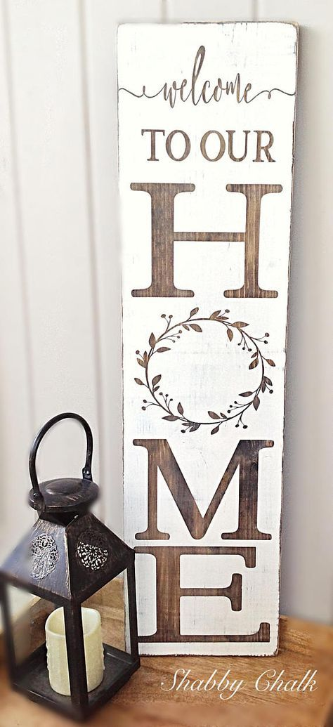 Welcome To Our Home Porch Sign Handmade Home Decor Handmade Home Welcome Home Signs