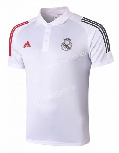 2020 2021 Real Madrid White Thailand Polo Shirt 815 In 2020 Real Madrid Polo Shirt Madrid