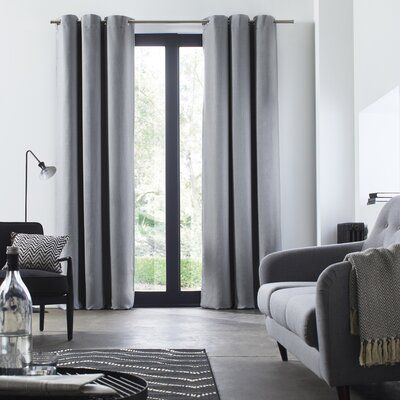 Madura Bellevue Solid Blackout Thermal Grommet Single Curtain Panel Wayfair Panel Curtains Colorful Curtains Master Bedroom Curtains