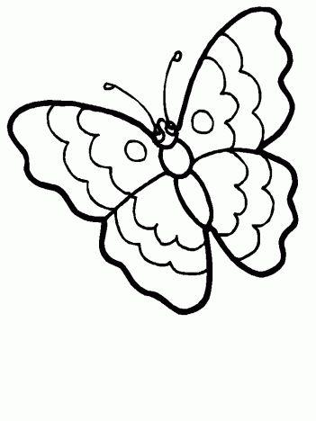 Kelebek Boyama Sayfalari Hayvan Boyama Sayfalari Kelebekler Ve