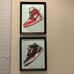 Nike Jordan 3 Digital Print Nike Wall Decor Nike Art Etsy Air Jordans Nike Art Sneaker Art
