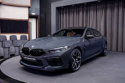 Another stunning car BMW Abu Dhabi showroom: The new BMW Competition Gran Coupe gets featured in the mind blowing Brands Hatch Grey. E28 Bmw, K100 Bmw, Bmw S1000rr, Bmw X6, Abu Dhabi, Pink Bmw, Nine T Bmw, Rolls Royce, Bmw Wallpapers