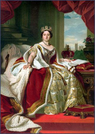 """Queen Victoria, was born 24th May 1819.  She was christened Alexandrina Victoria, & was known as """"Drina"""" during her early years."""