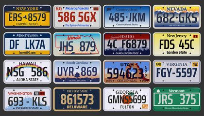 Game Controller Aluminum License Plate for Car Truck Vehicles