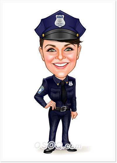Policewoman Caricature Caricature Celebrity Caricatures Police