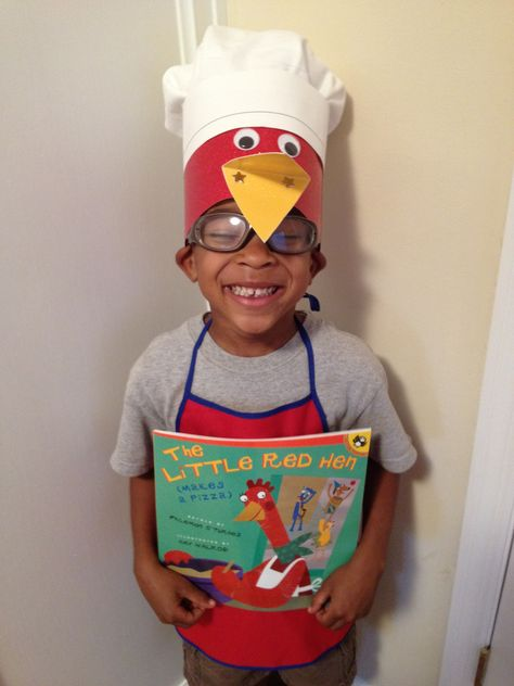 The Little Red Hen (Makes a Pizza)  Dressed for the school's book parade