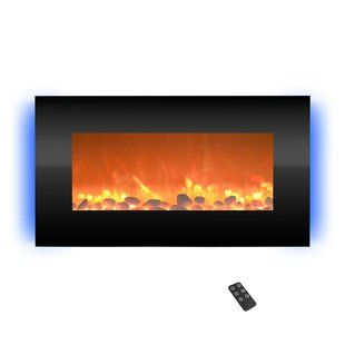 Wade Logan Belden Wall Mounted Electric Fireplace Wayfair Wall