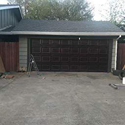 Amazon Com Customer Reviews Giani Wood Look Garage Door Paint Kit 2 Car Black Walnut Garage Door Design Garage Door Types Diy Garage Door