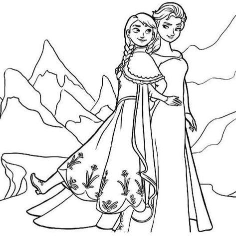 Protagonistas Frozen Dibujos Para Colorear Dibujos De Frozen