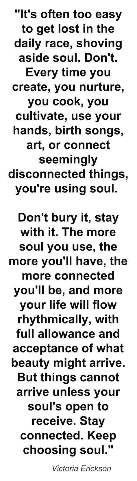 Keep the soul