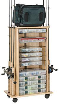 Organized Fishing 12 Rod Cabinet Rack