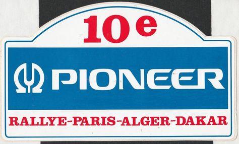 1988 10th Paris Alger Dakar Rallye Rally Original Period