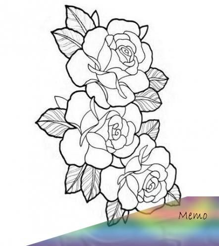 Trendy Flowers Design Outline Rose Tattoos Ideas Flowers Tattooideas Tattoomodels In 2020 Rose Tattoos Rose Tattoo Stencil Tattoo Outline Drawing