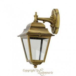 Tres Belle Applique D Exterieur En Laiton Poli Massif De Style Lanterne Parisienne Ancienne Verres Qui Diffuse Une Lumi Laiton Poli Laiton Appliques En Laiton