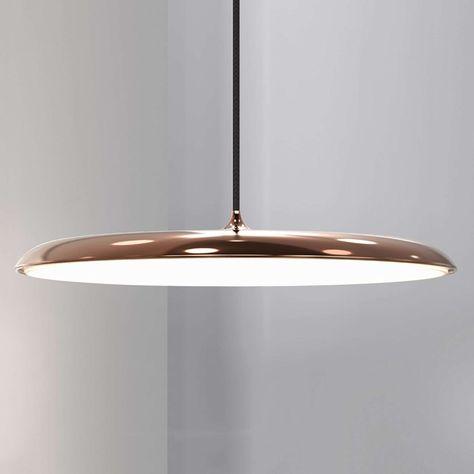 Hedendaags Artist 40 - dunne LED hanglamp, koper   Luminaire, Luminaire KG-59