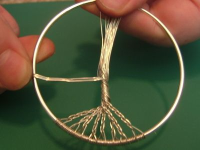 How to make a wire wrapped pendant. Wire Wrapped Tree Of Life Ornament - Step 7