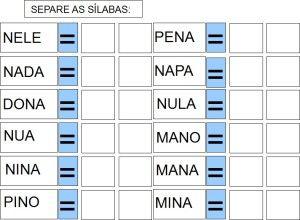 Inclusao Cartilha Adaptada Letra N Formacao De Palavras