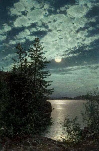 """Good night moon, shine on."""