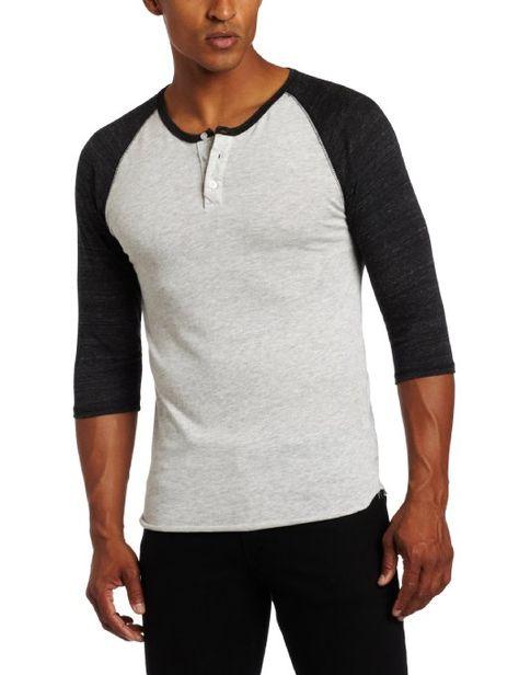 4063584c Amazon.com: Alternative Men's 3/4 Sleeve Henley Shirt: Clothing ...