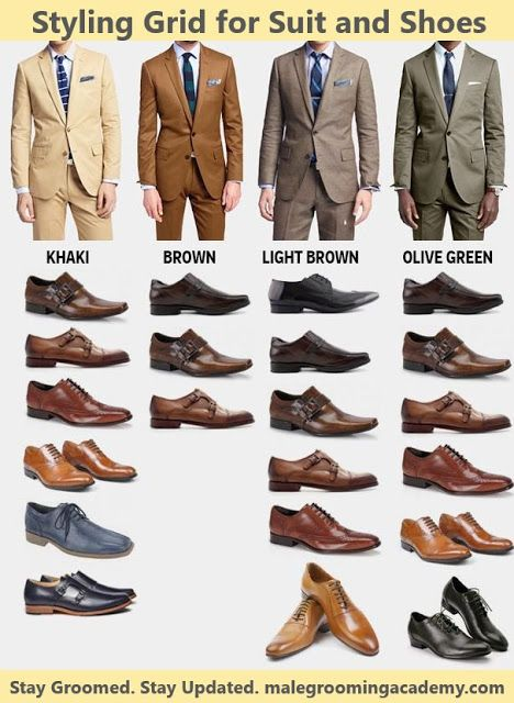 Styling Grid for Men - Suits and Shoes #fashion #style #love #art