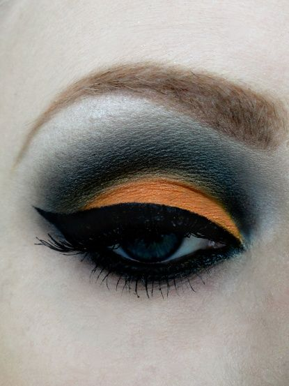 Halloween eye makeup ( or for school spirit on game night) GO Orioles!